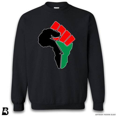 'African Power Fist - Pan African Colors' Premium Unisex Sweatshirt
