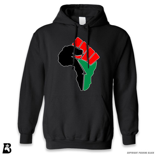 'African Power Fist - Pan African Colors' Premium Unisex Hoodie with Pocket