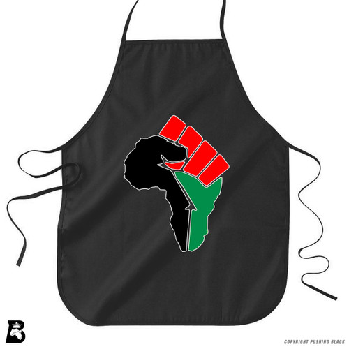 'African Power Fist - Pan African Colors' Premium Canvas Kitchen Apron