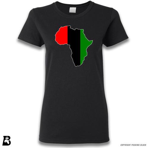 'Africa Map - Pan African Colors 2' Premium Unisex T-Shirt