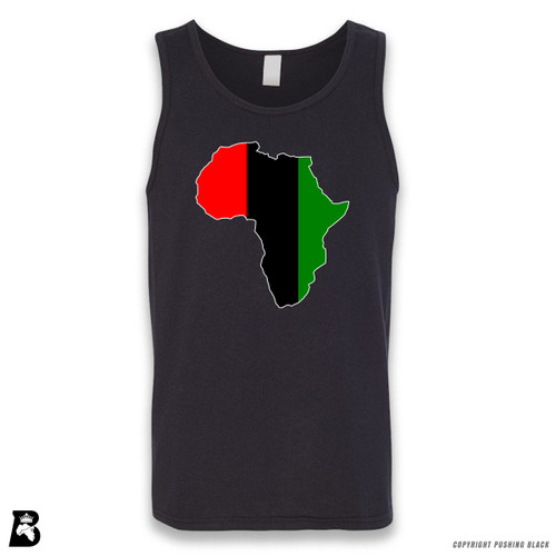 'Africa Map - Pan African Colors 2' Sleeveless Unisex Tank Top