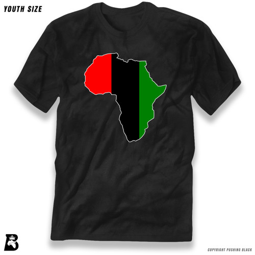'Africa Map - Pan African Colors 2' Premium Youth T-Shirt