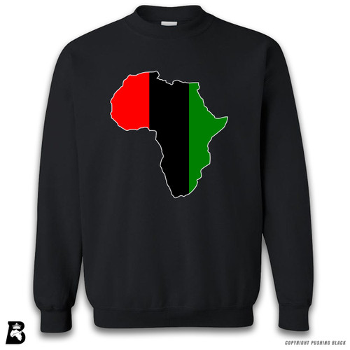 'Africa Map - Pan African Colors 2' Premium Unisex Sweatshirt