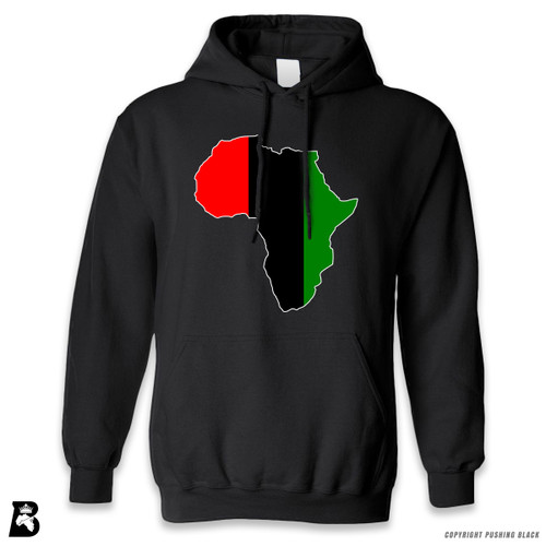 'Africa Map - Pan African Colors 2' Premium Unisex Hoodie with Pocket
