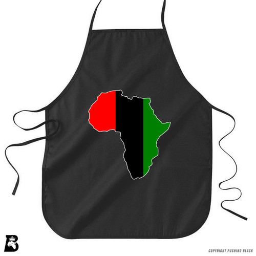 'Africa Map - Pan African Colors 2' Premium Canvas Kitchen Apron