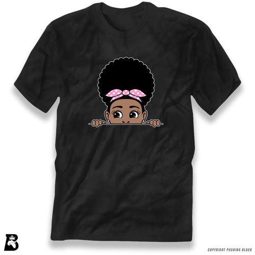 'Peekaboo Afro Puff' Premium Unisex T-Shirt