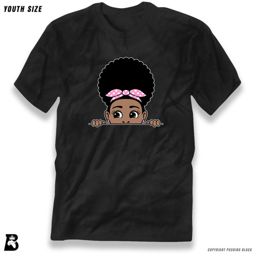 'Peekaboo Afro Puff' Premium Youth T-Shirt