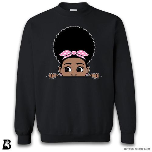 'Peekaboo Afro Puff' Premium Unisex Sweatshirt