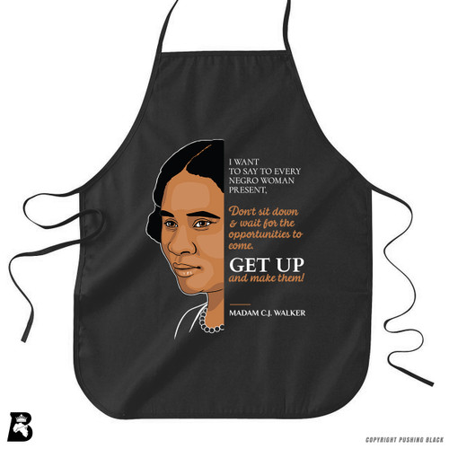 'The Legacy Collection - Walker - Get Up' Premium Canvas Kitchen Apron