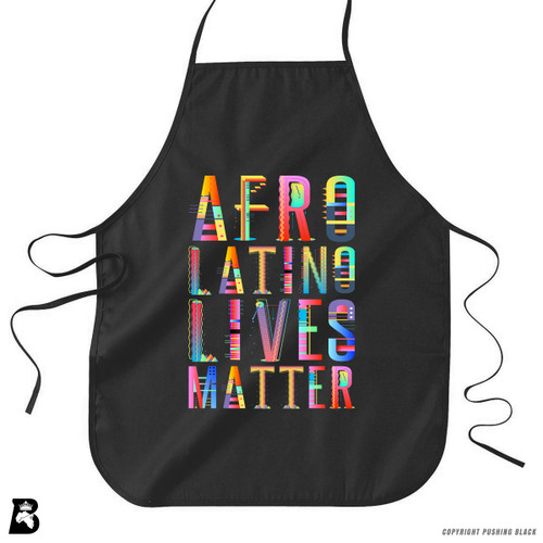'Afro-Latino Lives Matter' Premium Canvas Kitchen Apron
