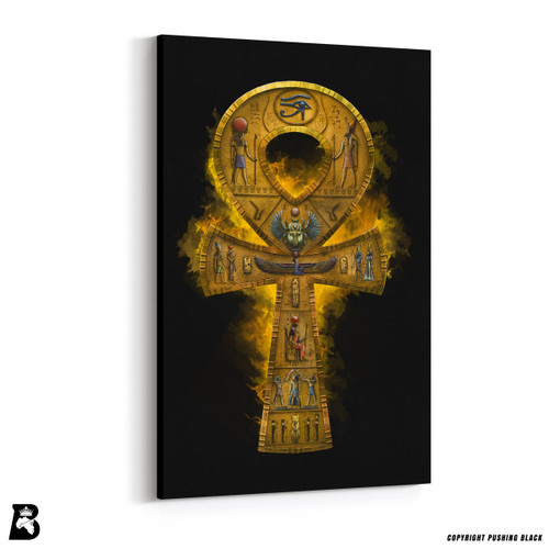 'Detailed Egyptian Ankh' Premium Wall Canvas