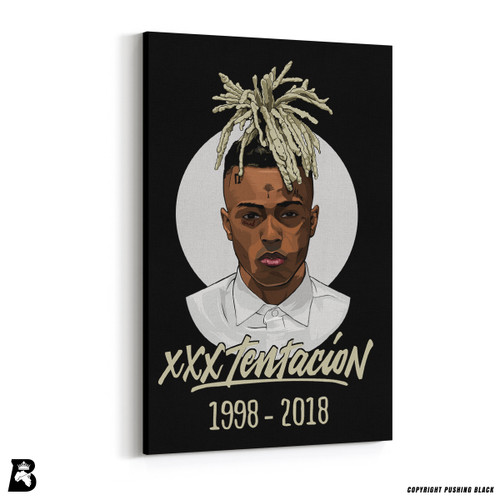 'XXXTentacion with Button-Up Shirt' Premium Wall Canvas