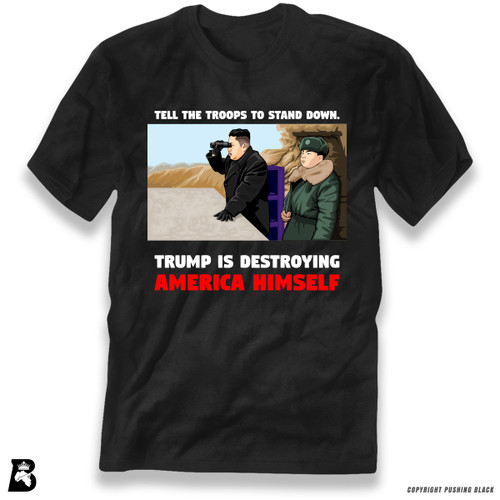 "'Kim - ""Trump Is Destroying America Himself""' Premium Unisex T-Shirt"