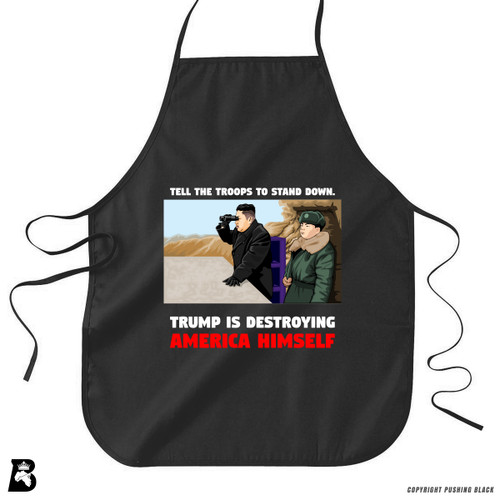 "'Kim - ""Trump Is Destroying America Himself""' Premium Canvas Kitchen Apron"