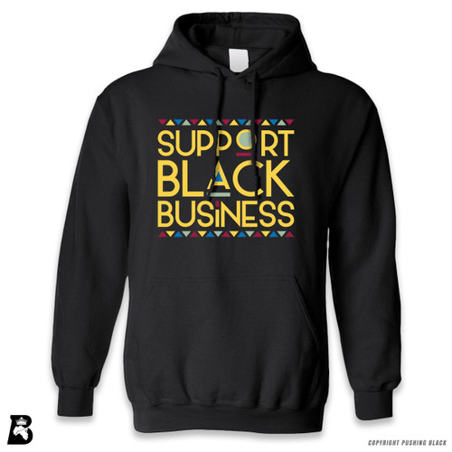 'Support Black Business' Premium Unisex Hoodie with Pocket