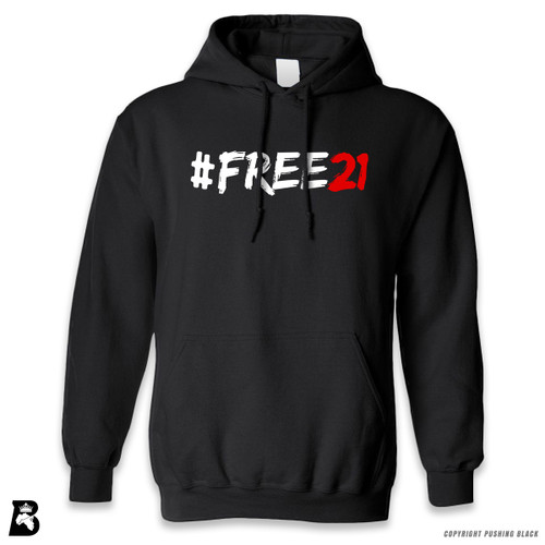 'FREE21' Premium Unisex Hoodie with Pocket
