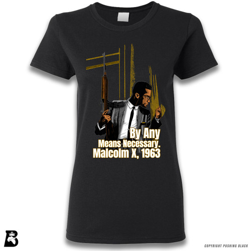 'Malcom at Window - By Any Means Necessary' Premium Unisex T-Shirt