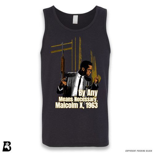 'Malcom at Window - By Any Means Necessary' Sleeveless Unisex Tank Top