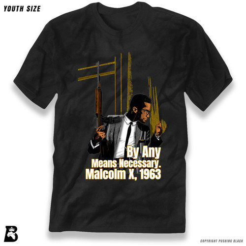 'Malcom at Window - By Any Means Necessary' Premium Youth T-Shirt