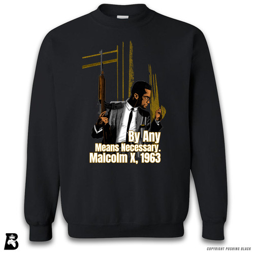 'Malcom at Window - By Any Means Necessary' Premium Unisex Sweatshirt