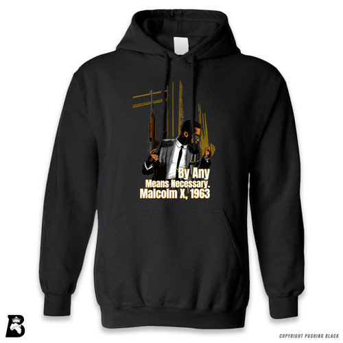 'Malcom at Window - By Any Means Necessary' Premium Unisex Hoodie with Pocket