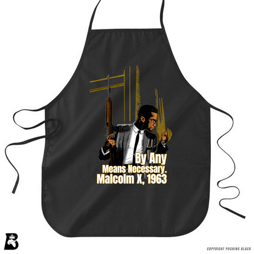 'Malcom at Window - By Any Means Necessary' Premium Canvas Kitchen Apron