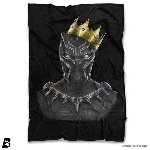 ''Black Panther With Crown' Soft Fleece Blanket Throw