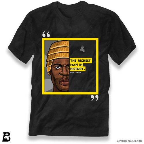 'The Legacy Collection - Mansa Musa - Richest Man in History' Premium Unisex T-Shirt