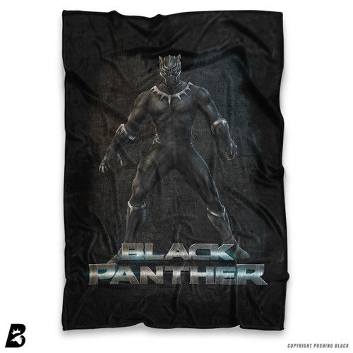 ''The Black Panther' Soft Fleece Blanket Throw
