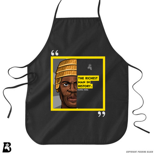 'The Legacy Collection - Mansa Musa - Richest Man in History' Premium Canvas Kitchen Apron