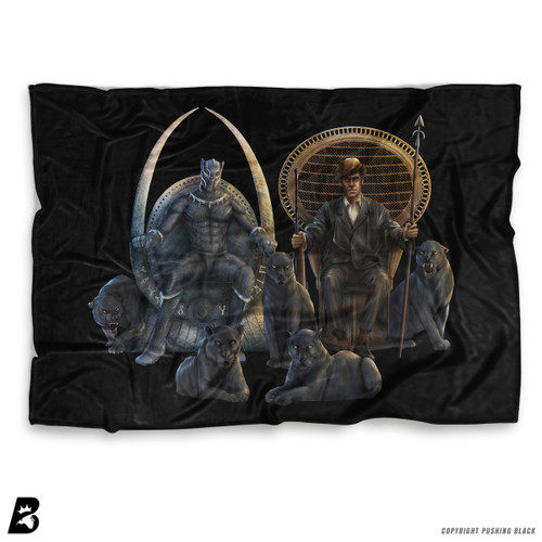 ''The Black Panther Huey P Newton' Soft Fleece Blanket Throw