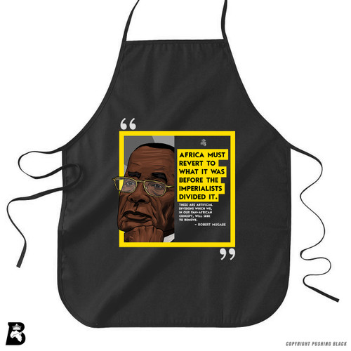 'The Legacy Collection - Mugabe - Africa Before Imperialists Divided It ' Premium Canvas Kitchen Apron