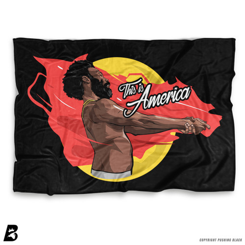 ''This is America - Childish Gambino' Soft Fleece Blanket Throw
