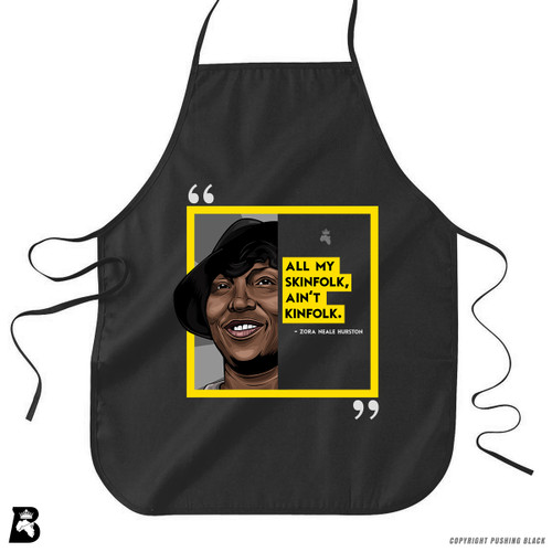 'The Legacy Collection - Hurston - All My Skinfolk Aint Kinfolk' Premium Canvas Kitchen Apron