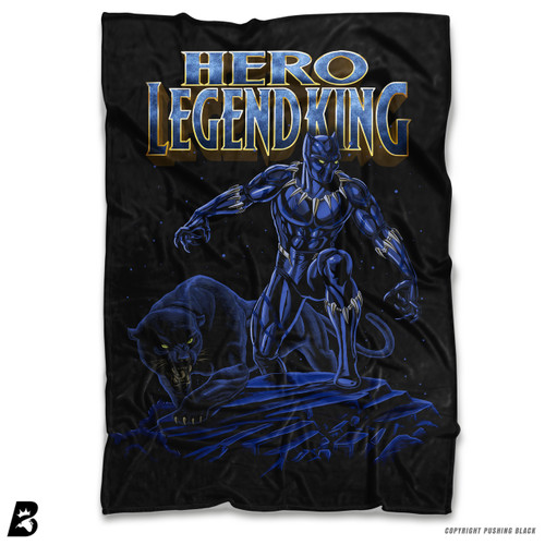 ''Hero Legend King - Black Panther' Soft Fleece Blanket Throw