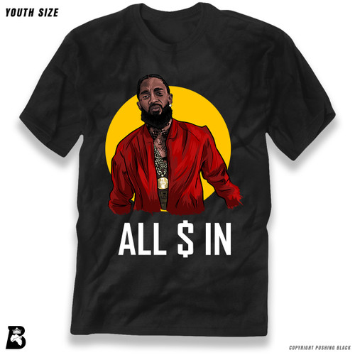 'Nipsey - ALL MONEY IN' Premium Youth T-Shirt