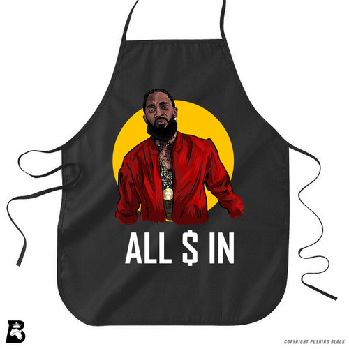 'Nipsey - ALL MONEY IN' Premium Canvas Kitchen Apron
