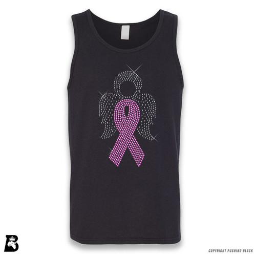 'Rhinestone - Breast Cancer Angel' Sleeveless Unisex Tank Top