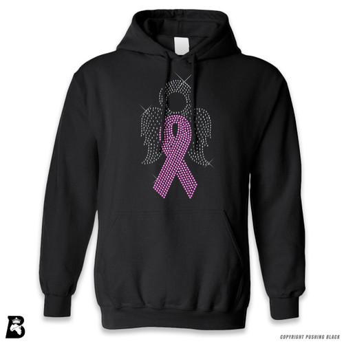 'Rhinestone - Breast Cancer Angel' Premium Unisex Hoodie with Pocket