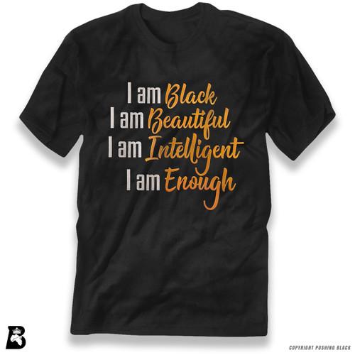 'I Am Black, I Am Beautiful (Metallic)' Premium Unisex T-Shirt