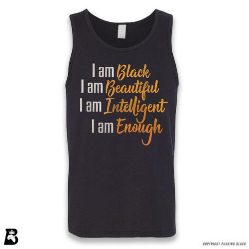 'I Am Black, I Am Beautiful (Metallic)' Sleeveless Unisex Tank Top
