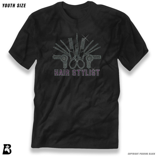 'Rhinestone - Hair Stylist' Premium Youth T-Shirt