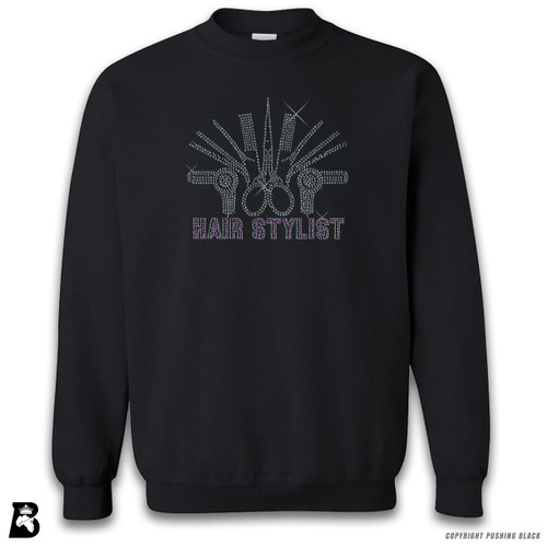 'Rhinestone - Hair Stylist' Premium Unisex Sweatshirt