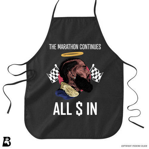 'Nipsey - The Marathon Continues' Premium Canvas Kitchen Apron