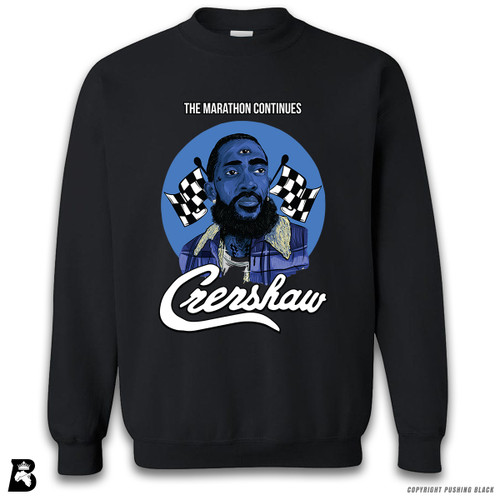 'Nipsey with Third Eye - The Marathon Continues' Premium Unisex Sweatshirt