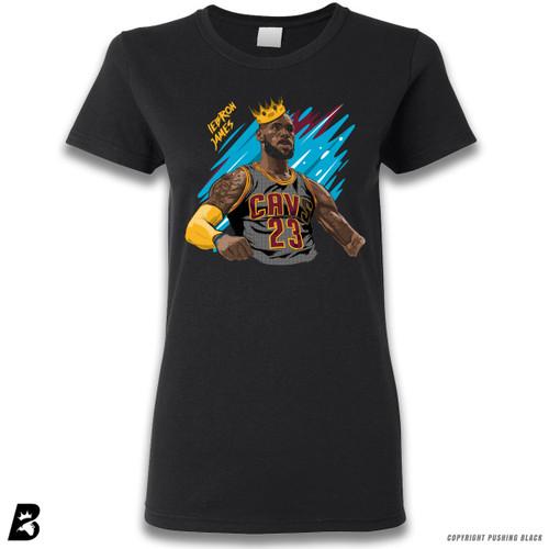 'King LeBron James' Premium Ladies T-Shirt