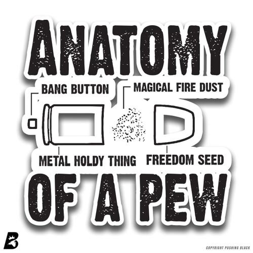'Anatomy of a Pew' Premium Multi-Purpose Decal