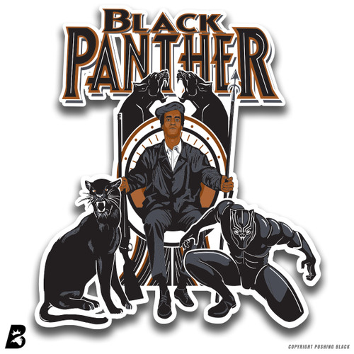 'Black Panther Huey P. Newton' Premium Multi-Purpose Decal
