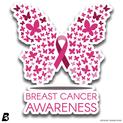 'Cancer Awareness Butterfly' Premium Multi-Purpose Decal
