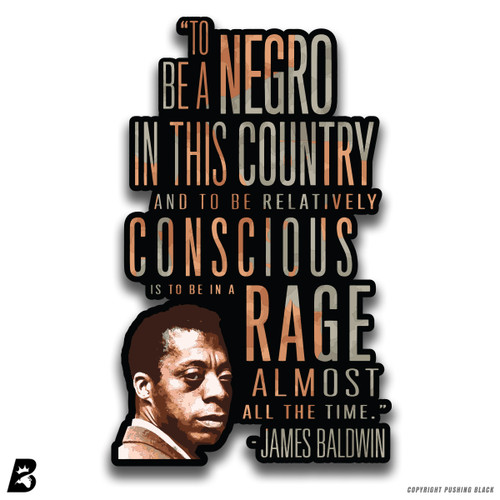 'James Baldwin - 'To Be a Negro'' Premium Multi-Purpose Decal